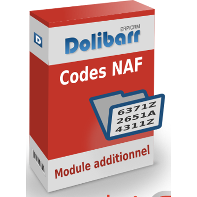 Codes NAF extension Dolibarr